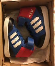 Adidas Baby Sneakers Blue Red High Tops Pumps Shoes BNIB