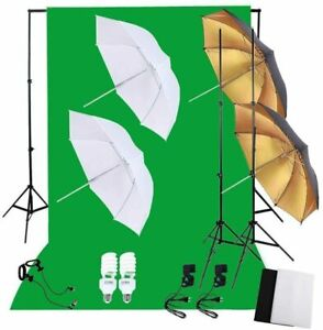 Kit set da studio fotografico Luci con lampada soft box E telo Andoer D2245