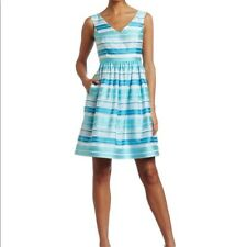 NWT LILLY PULITZER Kiera Dress Womens Size 2 A-line Turquoise Wrapping Stripe A8