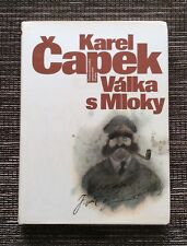 RARE HARDCOVER 1986 Valka s Mloky: War with the Newts by Karel Capek
