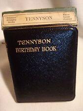 Vintage...Poet..Tennyson....Birthday...Book...Leather..Bound