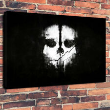 """Call of Duty Ghost Skull Man Cave Printed Box Canvas Picture A1.30""""x20""""30mm Deep"""