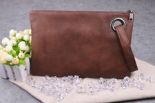 Fashion Women PU Leather Handbag Clutch Envelope Shoulder Evening Bag Purse Brown