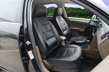 Leather like Car Seat Covers with Lumbar Support for Volkswagen 250 Black