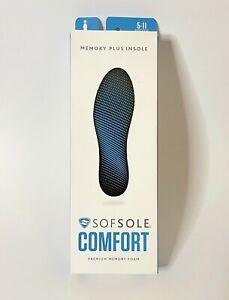 SofSol Comfort Women Memory Foam Insole Sole Size 5-11 Shoe Sneaker Support