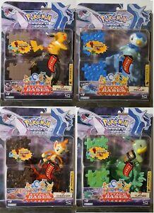 Piplup, Turtwig, Pikachu, Chimchar-Serie 1 Attack Bases Pokemon Jakks Pacific De