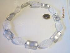 Halskette silberfarben  weiß-silber farbene Zierelemente