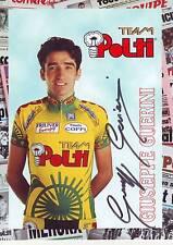 CYCLISME carte cycliste GIUSEPPE GUERINI équipe POLTI   signée