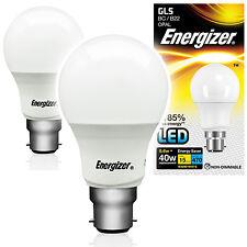 2 Energizer 5.6w = 40w Watt LED GLS Globe BC B22 Energy Saving Light Bulb S8857