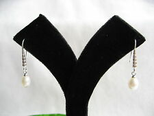 Silver Plated Cultured Fine Pearl Earrings