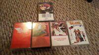 70s 5 Cassette Greatest Hit Rock Lot:Ted Nugent,Kansas,Elton John,ZZTop Aerosmit
