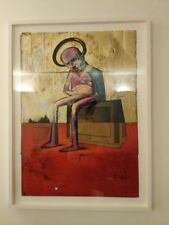 Adam Neate Signed Numbered Limited Print NOTHING ON TV John Jones Frame
