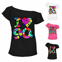 Ladies Multi I Love the 90s Fancy Dress Womens Hen Party Retro T-Shirt Top New