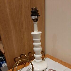 Laura Ashley Ceramic Lamp Base - white - H 28cm