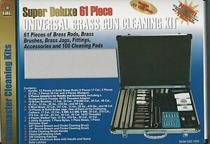 Gunmaster Super Deluxe 61 Piece Universal Brass Gun Cleaning Kit, Aluminum Case