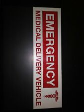 Car Sign Emergency Delivery Vehicle Magnetic Paramedic Heavy Duty Rescue New USA