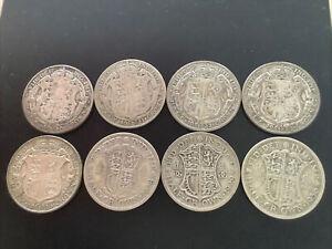 George V Half crowns 1920/21/22/23/26/28/29/36