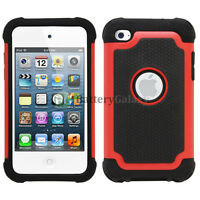 Hybrid Defender Slim Armor Impact Shok Case Cover For Apple iPod Touch 4 4th Gen