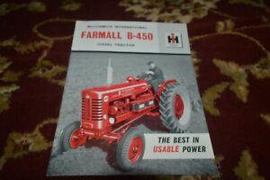 International Harvester B-450 Tractor Brochure FCCA