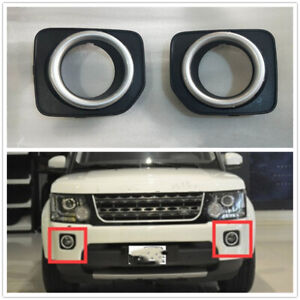Pair Front Fog Lamp Cover For Land Rover Discovery 4/LR4 2016 LR051337/LR051336