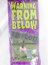 Fun World Warning From Below Hand Stake Outdoor Keep Out Hand Sign NIP