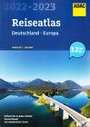 ADAC Reise Atlas 2022 / 2023 Deutschland 1:200000 (+ Europa) Straßenatlas Karte