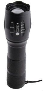 Taschenlampe Megalight 5 fach zoombares LED-Licht Anti-Rutsch-Griff Militär Zoom