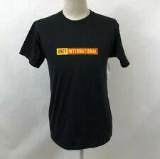 Obey Men's T-Shirt Obey International 2 Black Size M NWT Shepard Fairey