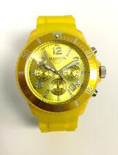 Madison New York U4362-02 CHRONO Gelb Damen Herren Uhr Silikon Kinderuhr neu