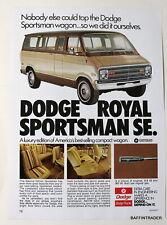 Dodge Royal Sportsman SE Wagon   Magazine 1974 Print Ad  8  x 11