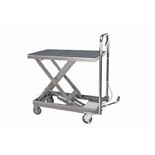 Rolling Table Cart Hydraulic Lift Cart w/Foot Pump Dolly Tools Heavy Duty