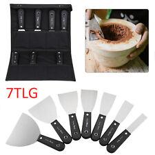 7tlg Maler-Spachtel Set 25+38+50+63+75+100+125mm Stielspachtel Kohlenstoffstahl