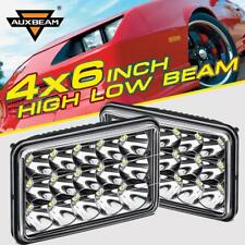 """2X AUXBEAM 4X6"""" 5X6"""" 45W CREE LED Headlights High/Low Clear Sealed Beam Replace"""