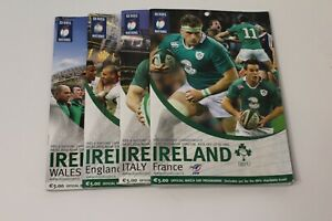 Ireland Rugby Union - 6 Nations - Programmes Bundle x4 - Collectable 2014- 2015