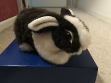 Black And White Bunny Plush Real Looking Rabbit Stuffed Animal