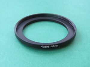 43mm-52mm Stepping Step Up Male-Female Filter Ring Adapter 43mm-52mm