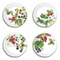Michel Design Works Berry Patch Berries Melamine Salad Side Plates Set of 4