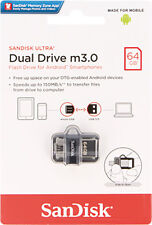 SanDisk 64GB OTG Ultra Dual microUSB 64G USB 3.0 Pen Drive SDDD3-064G Retail