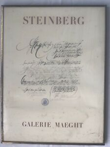 SAUL STEINBERG original LITHOGRAPH, Galerie Maeght, 1960, Stamped