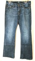 7 Seven For All Mankind Women's Size 29 Jeans Bootcut Dark Wash Distressed