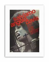 AD CIVIL RIGHTS USA SAVE ANGELA DAVIS ITALIAN ISSUE Poster Canvas art Prints