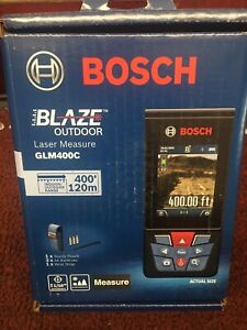 Bosch Blaze Outdoor 400ft Laser Measure W/ Bluetooth & Viewfinder GLM400C