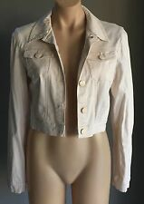 Gorgeous Retro SUPRE Beige Crop Long Sleeve Jacket Size S/10