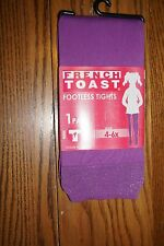 GIRLS FRENCH TOAST FOOTLESS TIGHTS 4-6X NEW PURPLE
