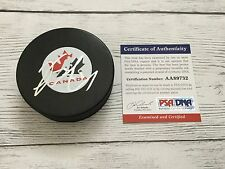 Vincent Lecavalier Signed Team Canada Hockey Puck PSA DNA COA Autographed a