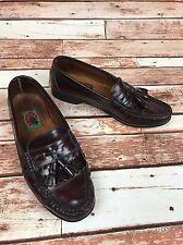 BOSTON TRADERS Men's 8 1/2 EU 42 Burgandy Tassel Leather Loafer Dress Shoes