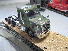 O GAUGE LIMITED EDITION U S ARMY FLATCAR W/ARMY SEMI TRACTOR LIONEL MTH MENARDS