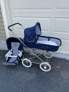 Vintage Emmaljunga Pram Carriage Baby Stroller and Bassinet S-280 22 SWEDEN 1388