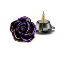 Très joli poids léger multicolore effet boucles d'oreilles roses