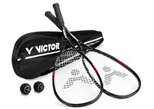 Squashset mit 2 Squashschläger BLACK DELUXE + 2 Squashballe + Schlägertasche